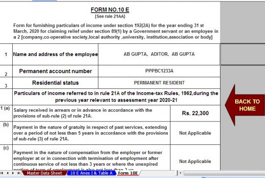 Download Automated TDS on Salary All in One for Govt and Non-Govt Employees for F.Y. 2019-20 With Income Tax Section 80DD & 80DDB for F.Y. 2019-20