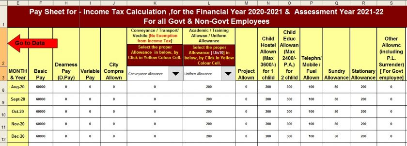 Salary Structure for Govt & Private Employees